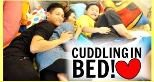 CUDDLING IN BED!!