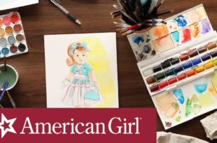 American Girl Historical Character Speed Illustration | American Girl