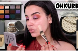 TRYING NEW e.l.f MAKEUP 2019: DRUGSTORE TUTORIAL & FIRST IMPRESSIONS!   MakeupByAmarie