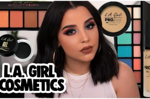 FULL FACE USING ONLY L.A. GIRL COSMETICS: AFFORDABLE AF MAKEUP TUTORIAL!   MakeupByAmarie