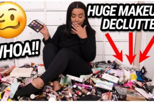 getting rid of HALF my MAKEUP COLLECTION!!! EXTREME MAKEUP DECLUTTER 2019!   MakeupByAmarie