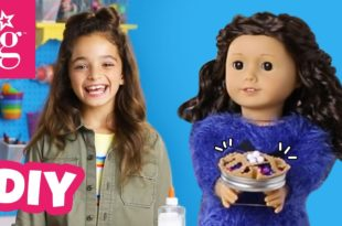 How To Make The Cutest Pie For Your Doll (National Dessert Day) | Doll DIY | American Girl
