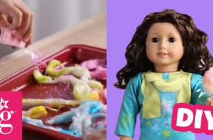 How to Make Sparkly Cotton Candy For Your Doll | Doll DIY | American Girl