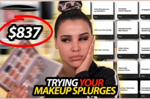 I Tried YOUR Holy Grail Makeup Splurges! Omg..