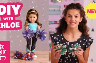 Get Ready to CHEER With DIY Sparkly Pom Poms | Doll DIY | American Girl